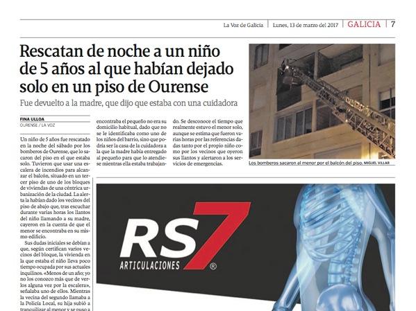 """RS7 en """"La Voz de Galicia"""""""